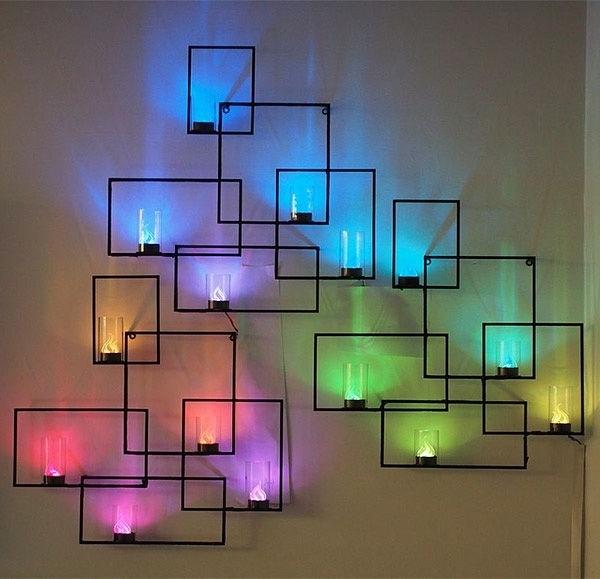 Wall Art Lighting Inside Preferred Interactive Cb2 Wall Light Sculpture (View 9 of 15)