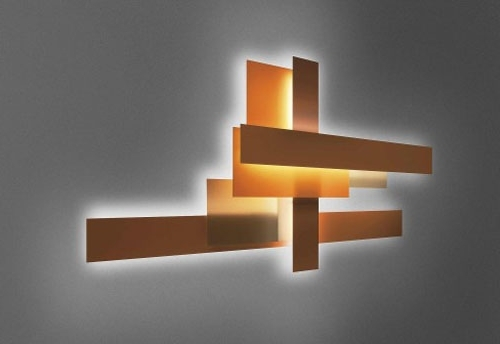 Wall Art Lighting Intended For Well Known Unique Shape Wall Art Lighting Fixtures Bronze Brush Painted (View 12 of 15)