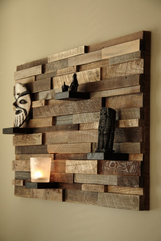 Wall Art On Wood Intended For Popular 16 Magnificent Examples Of Reclaimed Wood Wall Art (View 10 of 15)