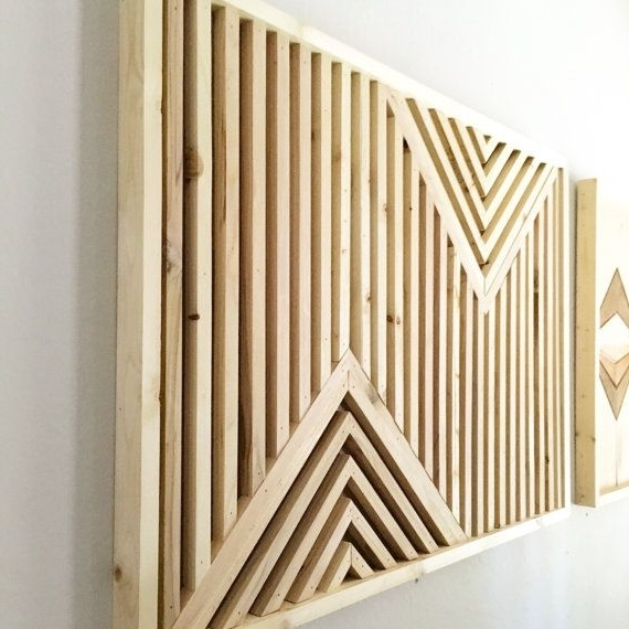Wall Art On Wood Pertaining To Well Liked Wood Wall Art, Rustic Wood Art, Reclaimed Wood Art, Geometric Wood (View 11 of 15)