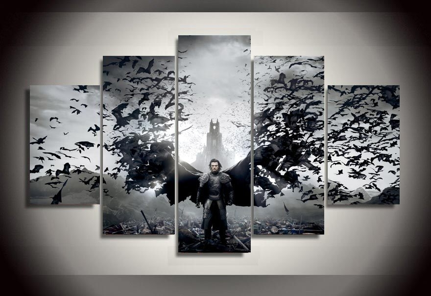 Wall Art Print Sets Regarding Trendy Limited Wall Art Framed Dracula Untold Luke Evans Group Painting (View 11 of 15)