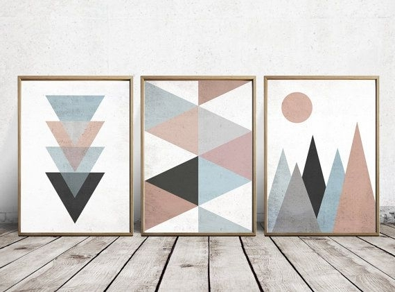 Wall Art Prints – Abstract Art Prints – Geometric Decor  Abstract Pertaining To Trendy Abstract Wall Art Prints (View 6 of 15)