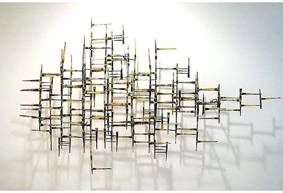 Wall Art Sculptures Modern Abstract Metal Wall Art Sculpture Wall For Popular Abstract Metal Sculpture Wall Art (View 2 of 15)