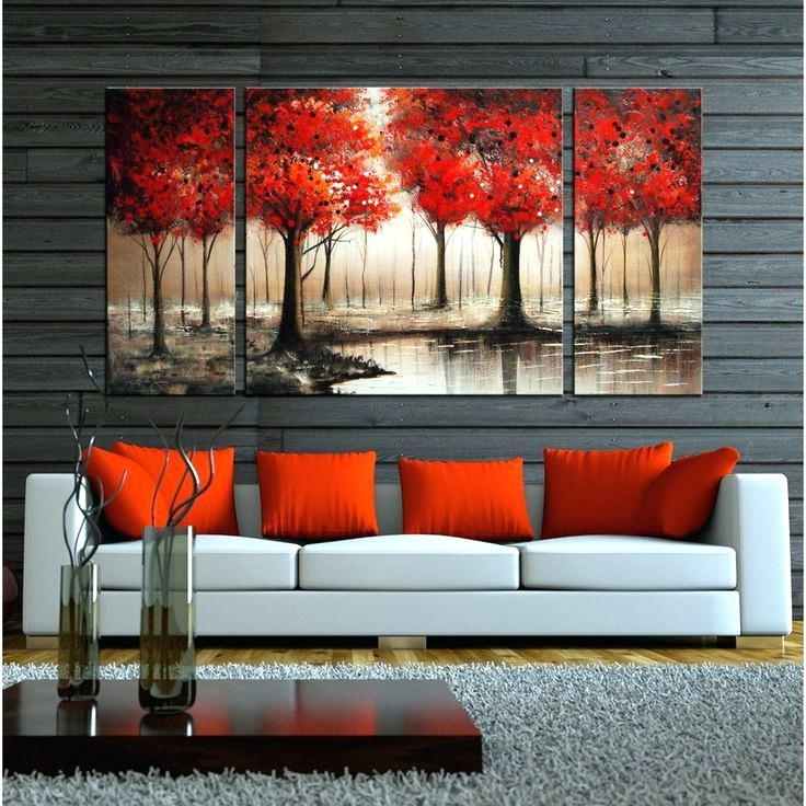 Wall Art Sets For Living Room Intended For Most Current Big Canvas Ideas Enjoyable Inspiration Wall Art Sets For Living Room (View 11 of 15)