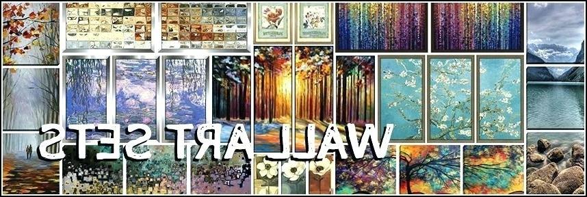 Wall Art Sets Of 4 Wall Art Sets Framed Canvas Art Metal Wall Art For Most Recent Cheap Wall Art Sets (View 13 of 15)