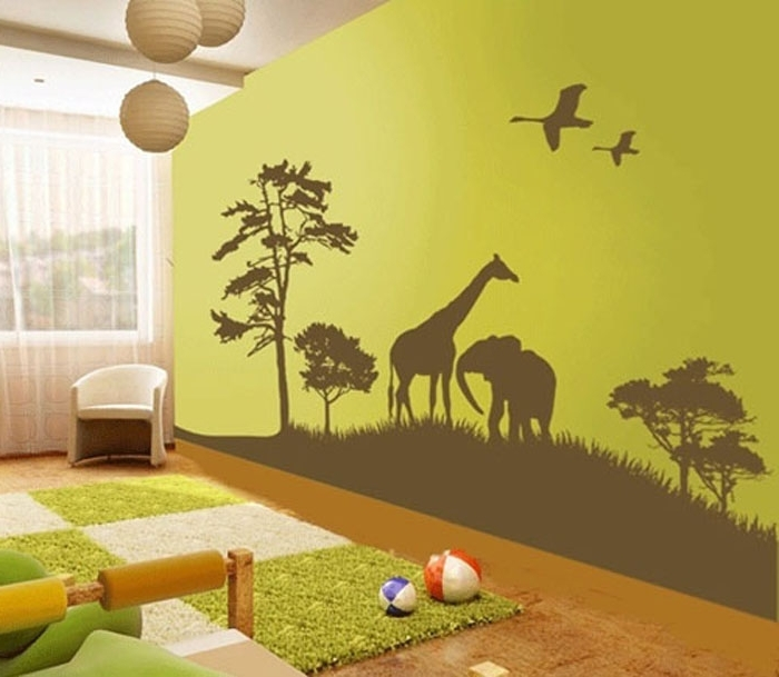 Wall Art Stickers For Childrens Rooms Throughout Favorite Childrens Bedroom Wall Decor Cool Cute Wall Art For Kids Room Wall (View 2 of 15)