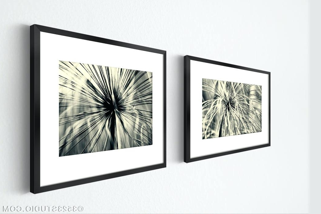 Wall Art White 2 Pieces Set Prints Abstract Grass Black And White Within Most Recently Released Matching Wall Art Set (View 2 of 15)