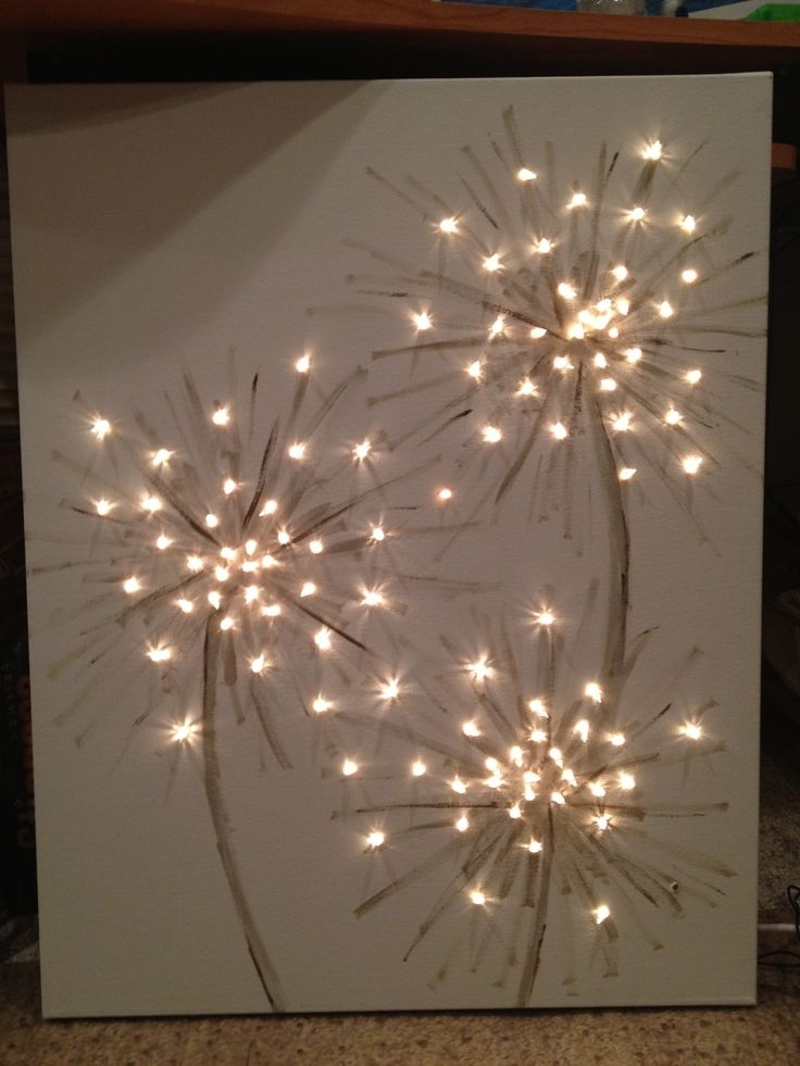 Wall Art With Lights Inside Current How Cool This Could Be Dandelions Or Fireworks A Simple Art For (View 9 of 15)