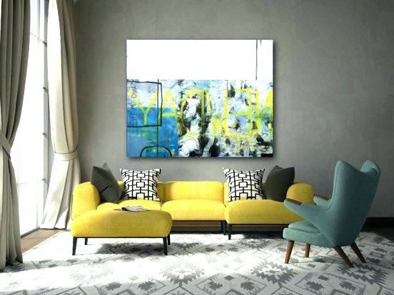 Wall Artwork Ideas Loft Wall Art Large Abstract Painting Extra Pertaining To Most Popular Abstract Garden Wall Art (View 15 of 15)