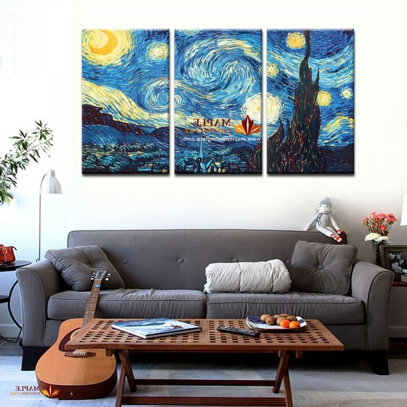 Wall Canvas Masters Starry Night Vincent Van Gogh Prints Reputation Pertaining To Well Known Vincent Van Gogh Multi Piece Wall Art (View 15 of 15)