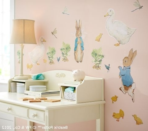 Wall Decal: Beautfiul Peter Rabbit Wall Decals Beatrix Potter Peter In 2017 Peter Rabbit Wall Art (View 8 of 15)