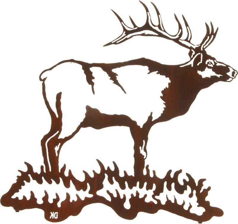 Wall Decor 24 Bull Elk Metallic Sold Out In Lazart Metal Art Inside Best And Newest Lazart Metal Art (View 13 of 15)