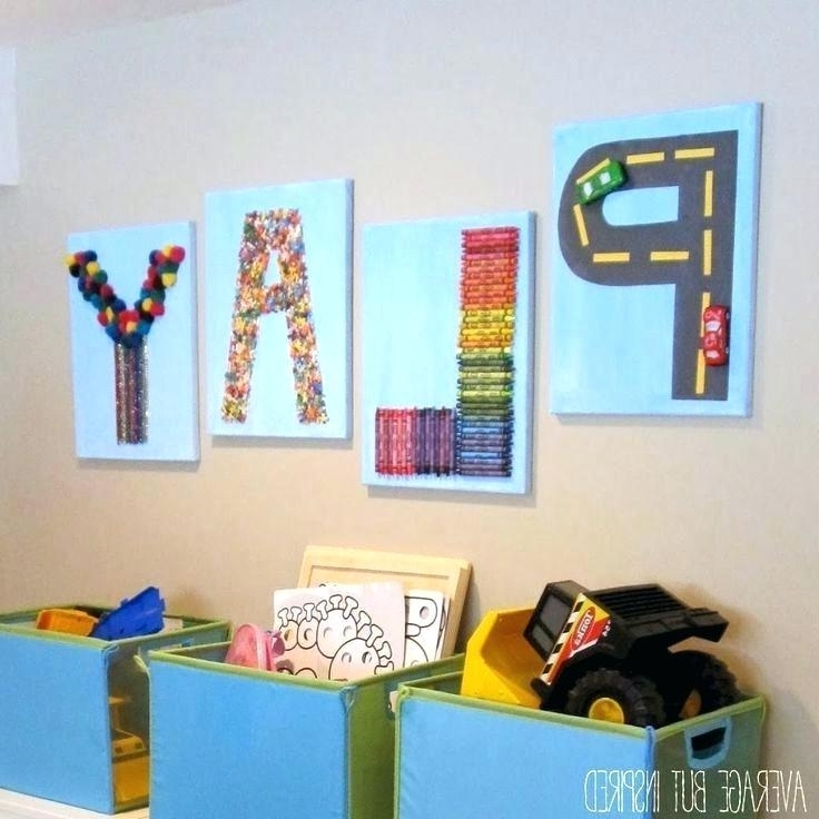 Wall Decor For Kids Playroom Playroom Wall Decor Ideas Best Playroom Regarding Most Recent Wall Art For Playroom (View 13 of 15)