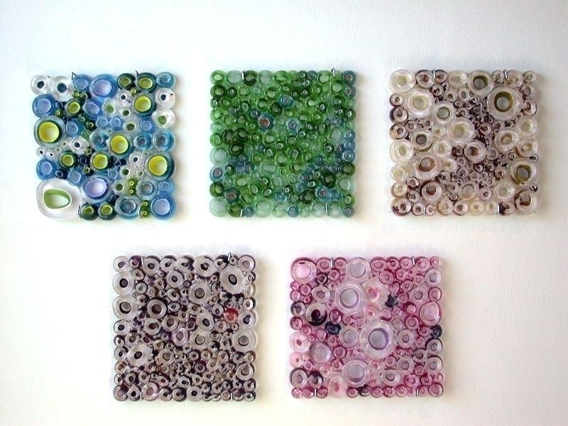 Wall Panels Art Handmade Glass Wall Panel Art Work Fused Tubing In Most Up To Date Glass Wall Art Panels (View 15 of 15)