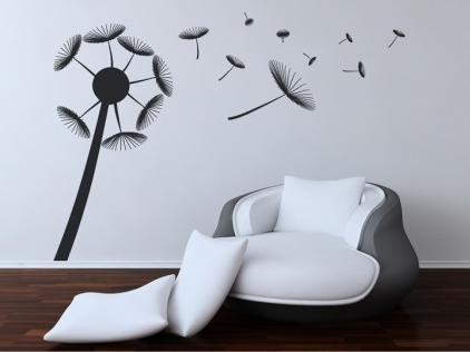 Wall Quotes: Flower Intended For Modern Vinyl Wall Art (View 13 of 15)