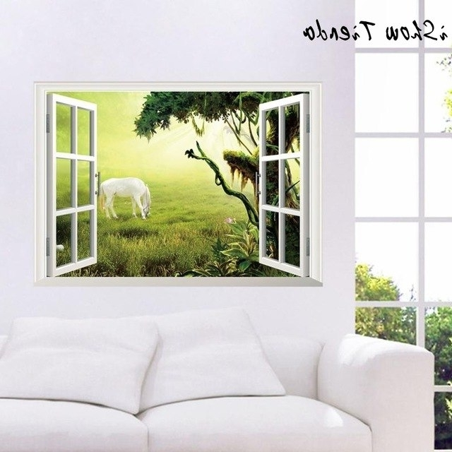 Wall Stickers Modern Home Decor 3D Wall Stickers Decals Art For Baby Within Latest Baby Nursery 3D Wall Art (View 12 of 15)