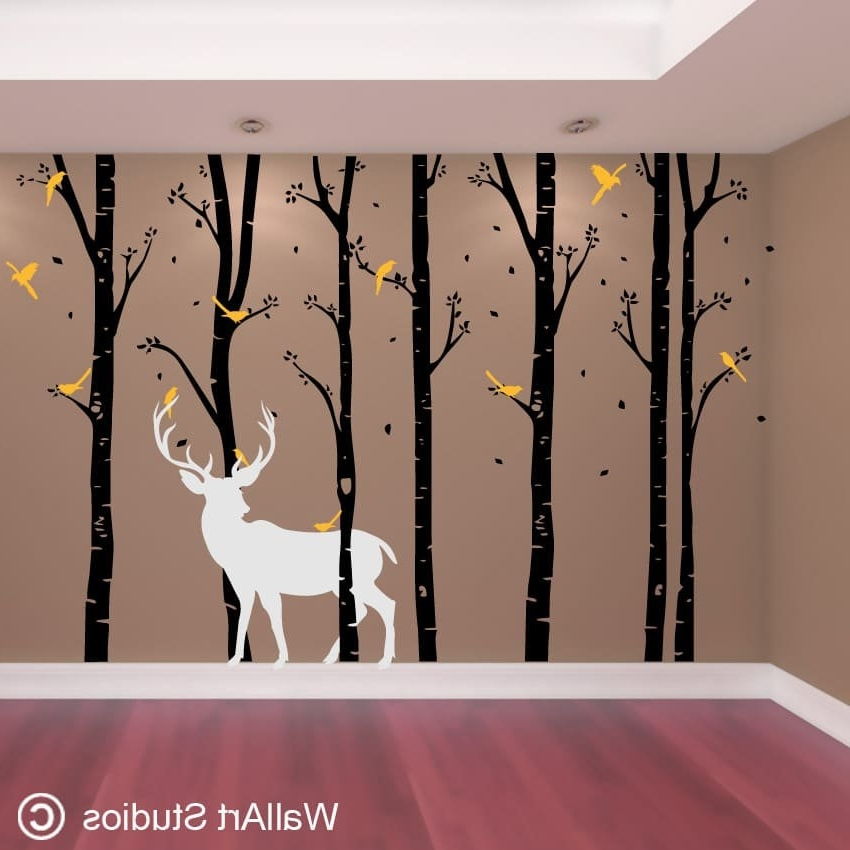 Wallart Studios With Best And Newest Vinyl Wall Art Tree (View 12 of 15)