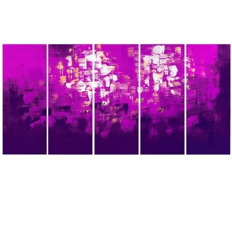Walmart Canada With Regard To Most Up To Date Purple And Grey Abstract Wall Art (View 14 of 15)
