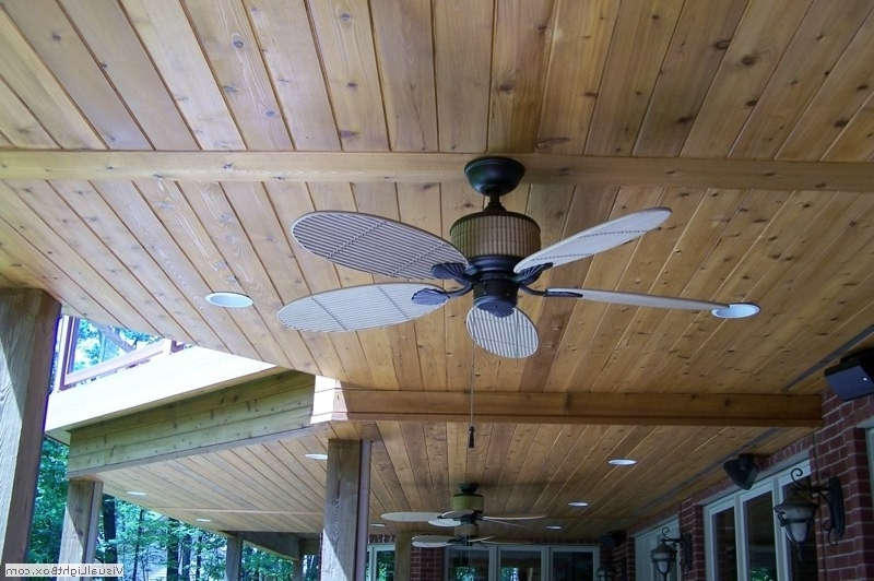 Waterproof Outdoor Ceiling Fans Within Popular Weatherproof Outdoor Ceiling Fans – Ceiling Fan Ideas (View 6 of 15)