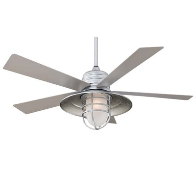 """Wayfair Outdoor Ceiling Fans In Most Up To Date Minka Aire 54"""" Rainman 5 Blade Outdoor Led Ceiling Fan (View 9 of 15)"""