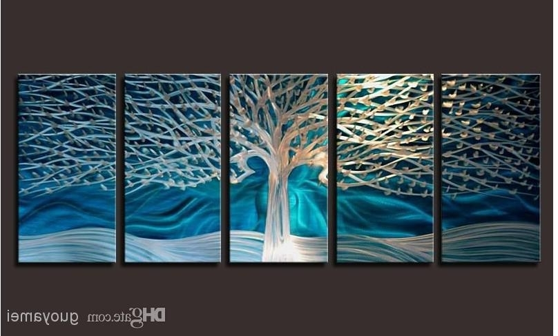 Featured Photo of Abstract Metal Wall Art Painting