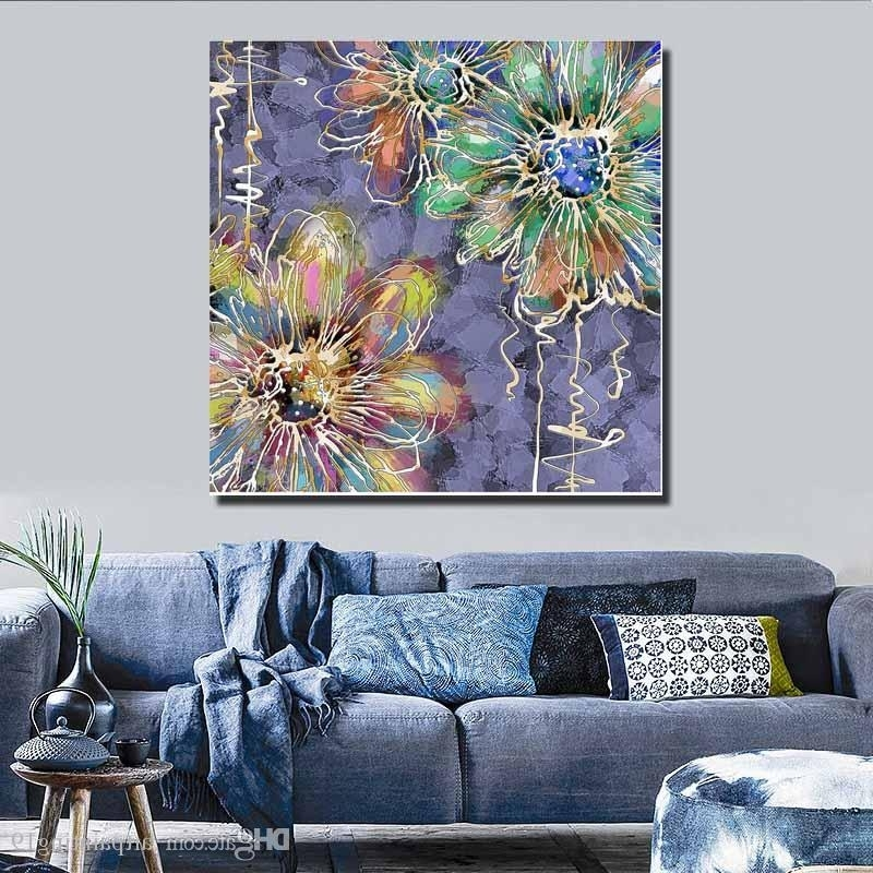 Well Known 2018 Details About Unframed Canvas Prints Modern Home Decor Wall Art Regarding Abstract Fabric Wall Art (View 15 of 15)