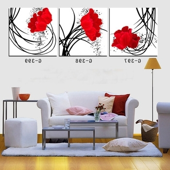 Well Known 3 Piece Floral Canvas Wall Art Throughout Buy 3 Piece Canvas Wall Art Prints For Home Decoration Wall Picture (View 2 of 15)