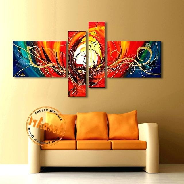 Well Known 3 Piece Wall Art Home Decor Abstract Artwork Colorful Abstract In Abstract Wall Art Canada (View 14 of 15)