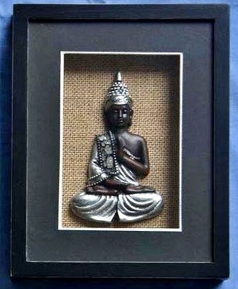 Well Known 3D Buddha Wall Art Inside Buddha Wall Art Black Framed 3D Shadow Box Shadowbox D67203: Amazon (View 9 of 15)