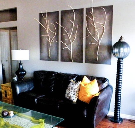 Well Known 3D Wall Art For Living Room For 40 Diy Wall Art Ideas For Living Room (View 9 of 15)