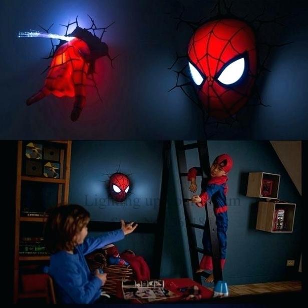 Well Known 3D Wall Art Night Light Spiderman Hand For 3D Wall Night Light Wall Art Iron Man Night Light 3D Wall Art (View 11 of 15)