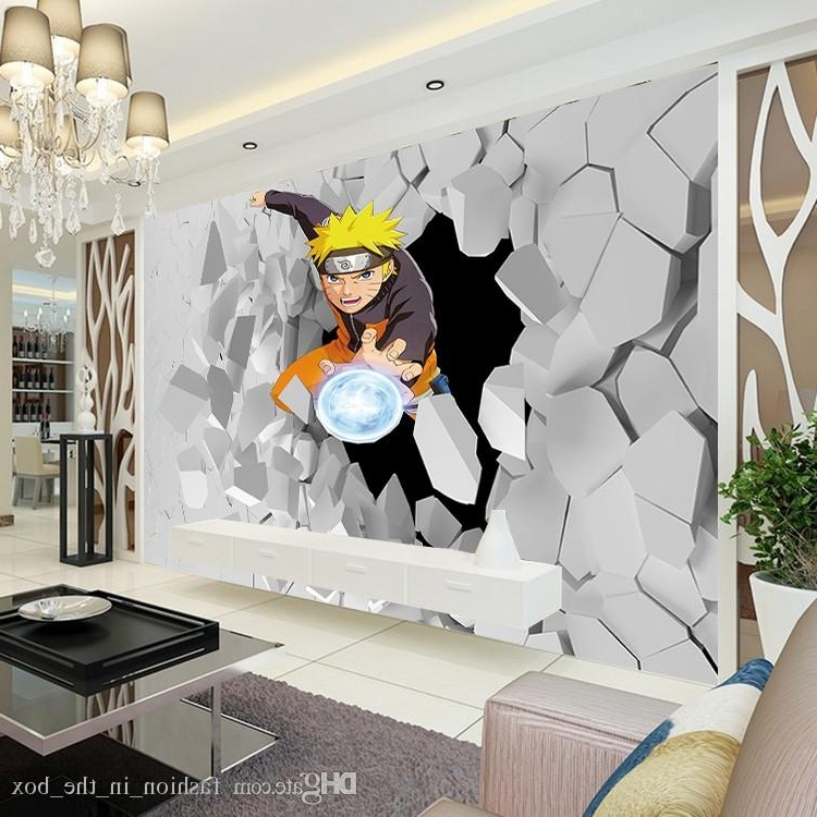 Well Known 3D Wall Art Wallpaper Intended For Japanese Anime Wall Mural 3D Naruto Photo Wallpaper Boys Kids (View 5 of 15)