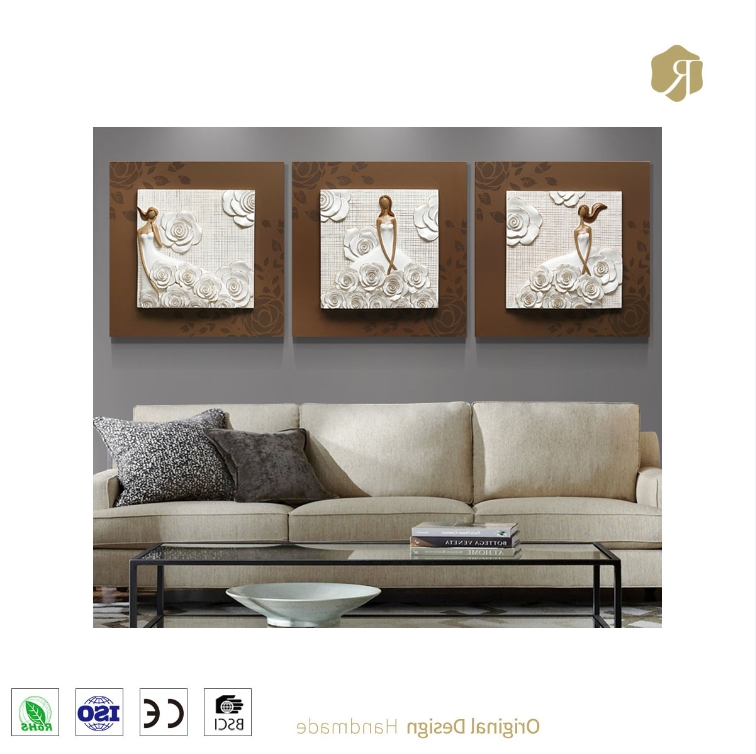 Well Known 3D Wall Art Wholesale Price Modern Fashion Girl Relief Resin Pertaining To 3D Wall Art Wholesale (View 9 of 15)