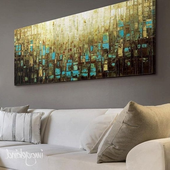 Well Known Abstract Art Print Wall Decor Mid Century Modernmodernhouseart Pertaining To Blue And Brown Abstract Wall Art (View 3 of 15)