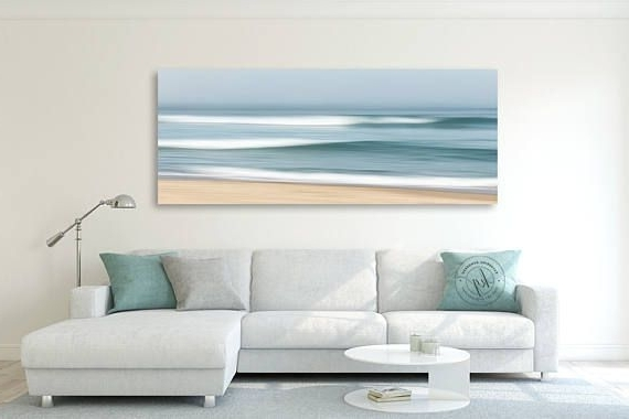 Well-known Abstract Beach Wall Art regarding Coastal Wall Decor, Large Abstract Beach Canvas Wall Art, Ocean