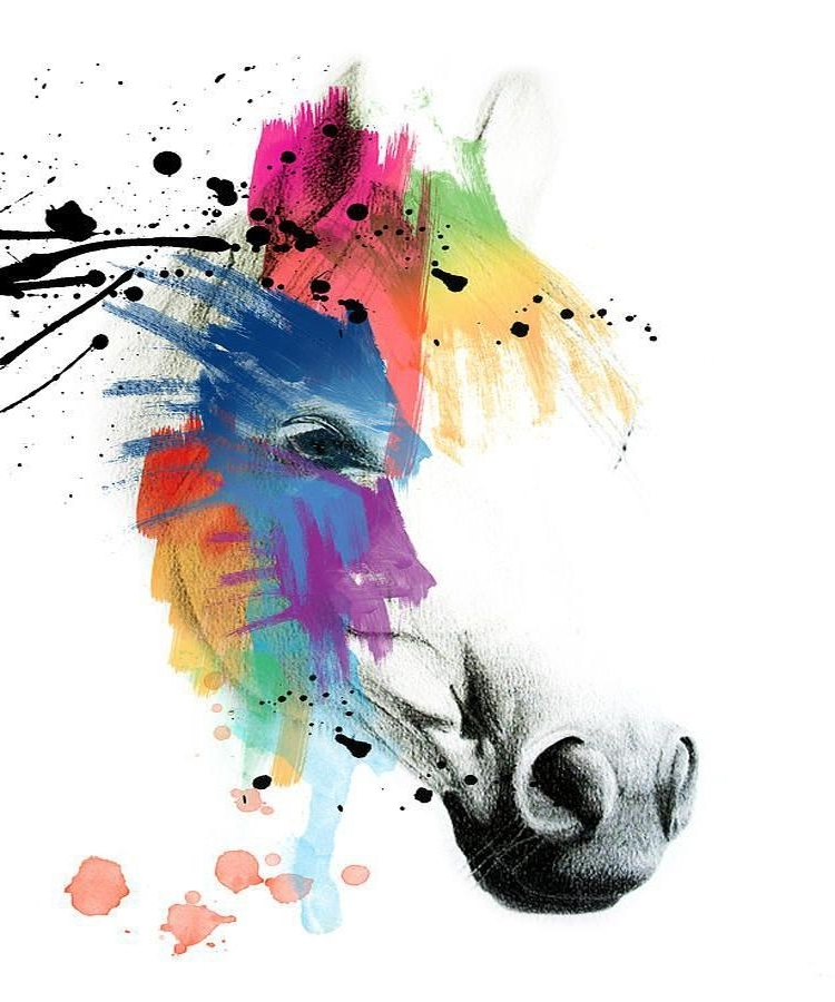 Well Known Abstract Horse Wall Art In Light Colors Abstract Horse Oil Painting On Canvas Modern Wall Art (View 14 of 15)