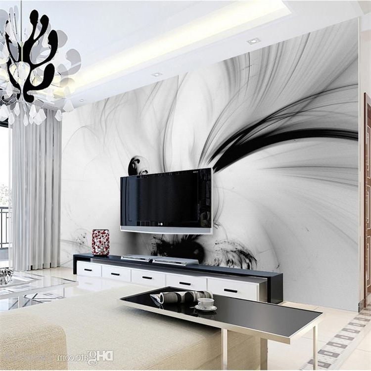 Well Known Abstract Wall Art 3D Inside 3D Abstract Wall Murals Black White Lines Stripe Hd Photo Paper (View 11 of 15)