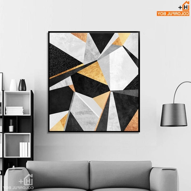 Well Known Abstract Wall Art Posters Regarding Aliexpress : Buy Colorfulboy Geometry Abstract Wall Art Posters (View 2 of 15)