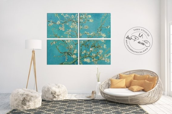 Well Known Almond Blossoms Vincent Van Gogh Wall Art For Large Canvas Wall Art Vincent Van Gogh Blossom Almond Tree (View 10 of 15)
