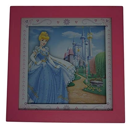 Well Known Amazon: Disney Princess Framed Wall Art 10X10, Cinderella In Disney Princess Framed Wall Art (View 14 of 15)