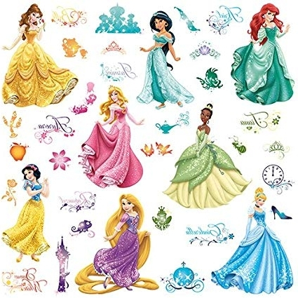 Well Known Amazon: Roommates Rmk2199Scs Disney Princess Royal Debut Peel Intended For Disney Princess Wall Art (View 14 of 15)