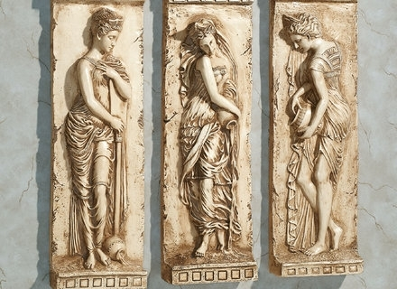 Well Known Ancient Greek Wall Art With Regard To 31 Greek Wall Art, Greek Art Dancing Muses Huge Wall Home Decor (View 6 of 15)
