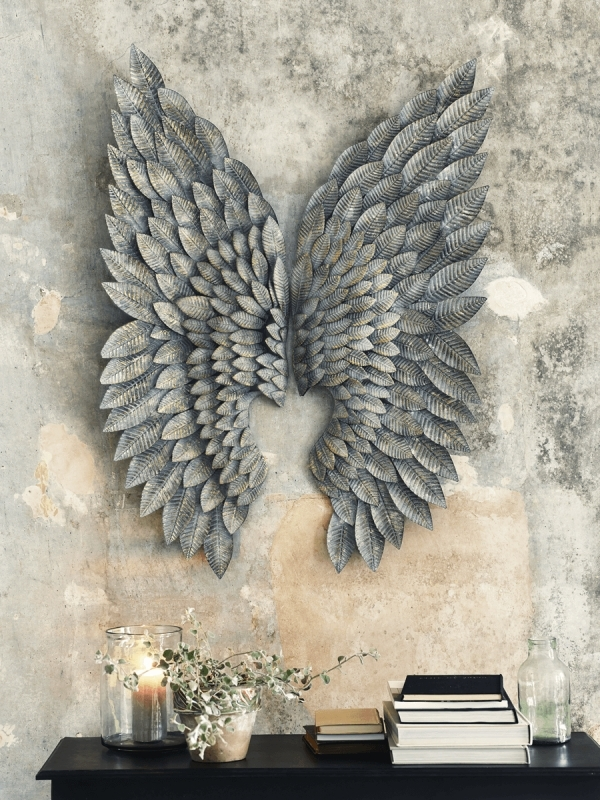 Well Known Angel Wings Wall Decor Canada With Black Angel Wing Wall Decor Within Angel Wings Wall Art (View 14 of 15)
