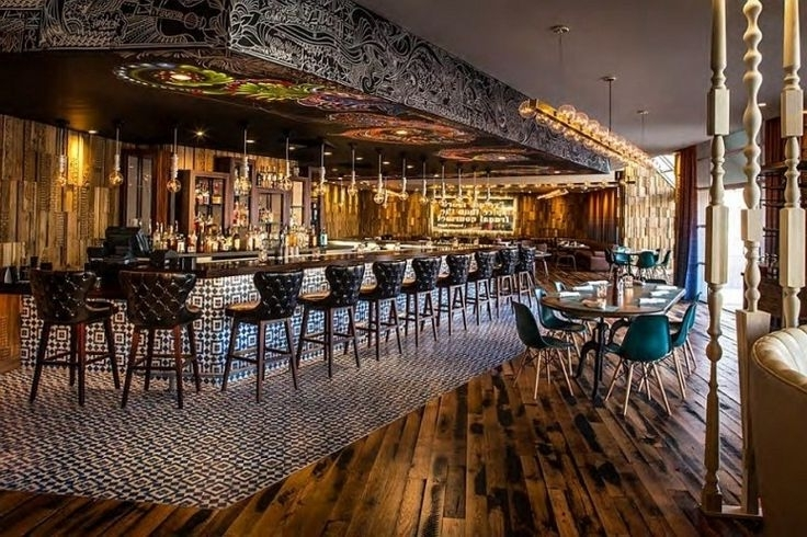 Well Known Architectural Interior Design Ideas For Bar And Restaurant With Pertaining To Wall Art For Bar Area (View 13 of 15)