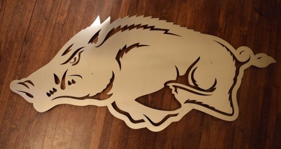 Well Known Arkansas Razorback Logo Floating Metal Wall Art (View 12 of 15)