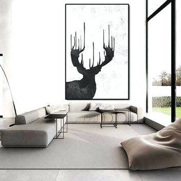 Well Known Big Abstract Wall Art Deer Wall Art Painting Large Extra Large Wall Pertaining To Abstract Deer Wall Art (View 14 of 15)