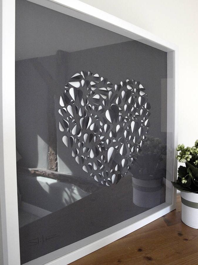 Well Known Big Cheap Wall Art Regarding Big Love Heart Hand Crafted Wall Artillustries (View 14 of 15)