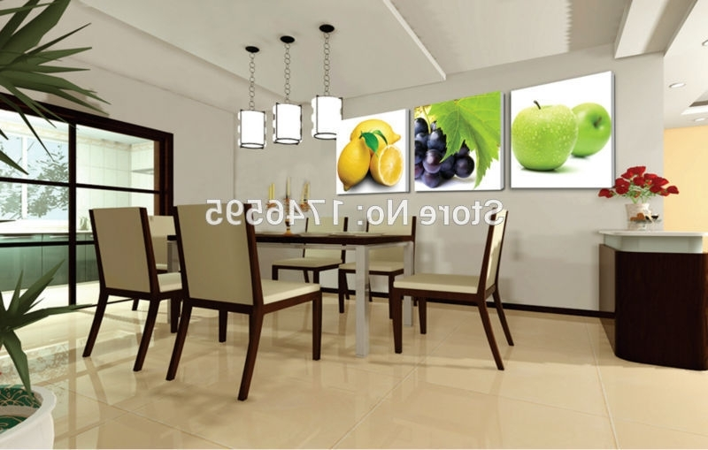 Well Known Big Size 3Pcs Modern Decor Restaurant Dining Room Wall Art Decor For Dining Wall Art (View 4 of 15)
