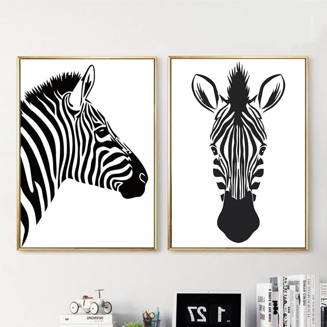 Well Known Black White Animal Zebra Wall Art Canvas Posters And Prints Canvas With Regard To Zebra Wall Art Canvas (View 8 of 15)