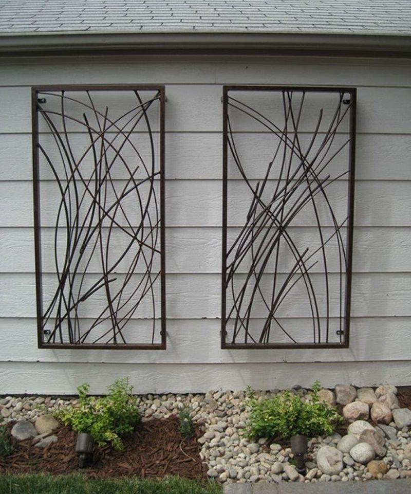 Well Known Brilliant Garden Wall Decor Wrought Iron Top Wrought Iron Outdoor With Wrought Iron Garden Wall Art (View 10 of 15)